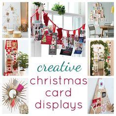 creative Christmas card display