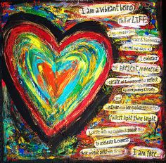 Art Journaling  The heart cymbolizes love but it also tells us who we are weither free, or full of life it tells a story of each of us...Joyce Poppen