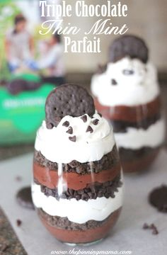 Does life get any better than this??  Triple Chocolate Thin Mint Parfait Recipe