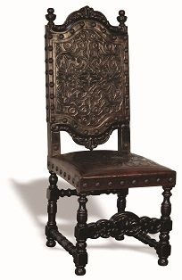 Del Rey Chair . Hand Carved leather