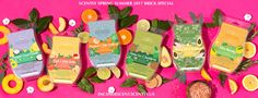 SCENTSY APRIL 2017 BRICK SPECIAL Shop our New, Spring Summer Scentsy Bricks! We're celebrating spring with a brand-new collection of Scentsy Bricks! As always, they're nearly six times bigger than Scentsy Bars, but this time around, we've formulated our Bricks with more natural ingredients�…