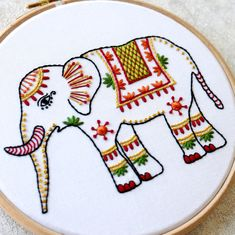 Fantastic Photos animal Embroidery Patterns Ideas Adornments has been around forever—and that's barely an exaggeration. It has the root base are o Hand Embroidery Videos, Hand Embroidery Stitches, Learn Embroidery, Modern Embroidery, Embroidery Patterns, Hand Stitching, Diy Bordados, Flower Embroidery Designs, Elephant Gifts
