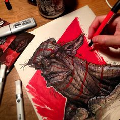 good things may come to those who wait, but GREAT things come to those who create! Monster Design, Monster Art, Character Art, Character Design, Copic Marker Art, Doodle Characters, Cyberpunk Art, Pen Art, Copics