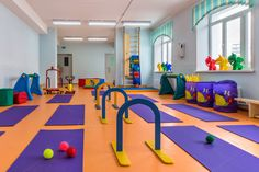 children's room with gym equipment by Dreamer63 on @creativemarket