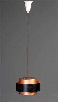 Lot: 4342426Jo Hammerborg for Fog og Mørup. Saturn pendel af delvis bemalet kobber