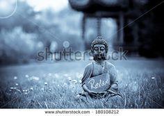 The word Relax with Buddha Statue by Bildagentur Zoonar GmbH, via Shutterstock