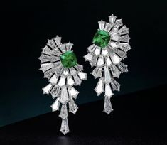 Exclusive designer jewellery in London by Moussaieff. High-end jeweller offering masterpieces: diamond and sapphire rings, diamond earrings and necklaces. Ruby And Diamond Necklace, Diamond Earing, Emerald Earrings, Emerald Jewelry, Gemstone Earrings, Diamond Tops, Emerald Pendant, Emerald Cut Diamonds, Beautiful Earrings
