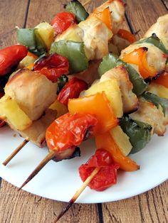 Oven Baked Chicken Kabobs | YummyAddiction.com