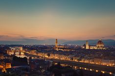 https://flic.kr/p/bUJMHZ | Fireflies in Florence | <i>Skyline of Florence, Tuscany, Italy at dusk as seen from the Piazzale Michelangiolo. Prominent places such as Ponte Vecchio, the Palazzo Vecchio and the Cathedral (Duomo) can be seen.</i>  <b>Florence</b> (Italian: <b>Firenze</b>, alternate obsolete form: Fiorenza; Latin: Florentia) is the capital city of the Italian region of Tuscany and of the province of Florence. It is the most populous city in Tuscany, with approximately 370,000 ...
