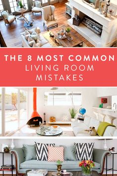 The 8 most common living room mistakes you can make and how to avoid and fix them.