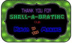 Ninja Turtle Baby Shower Invitation and Thank You by MermaidMart