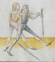 Lecküchner, Hans: Kunst des Messerfechtens Nordbayern, 1482 Cgm 582 Folio 152