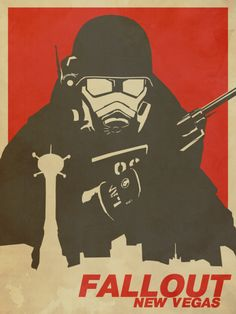 'Fallout New Vegas Poster (Fallout NV)' Poster by Glyphz Fallout Fan Art, Fallout Concept Art, Fallout New Vegas, Skyrim, Video Game Art, Video Games, Fallout Wallpaper, Hd Wallpaper, Fallout Tattoo