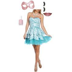 Pastel Teal Masquerade #pastels #tealdiva #fundraiser