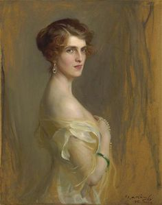 soyouthinkyoucansee on tumblr  A portrait of Viscountess Chaplin, née the Hon. Gwladys Wilson