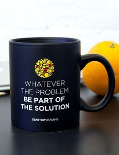 Add a dose of inspiration on your morning caffeine. Check it out==> http://gwyl.io/whatever-the-problem-be-part-of-the-solution-coffee-mug-quote/