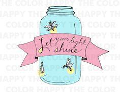 Mason Jar Art Firefly Mason Jars, Mason Jar Art, Mason Jar Gifts, Jar Crafts, Home Crafts, Night Lite, Let Your Light Shine, Collor, Ball Jars