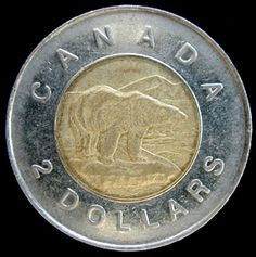 Pretty standard looking Canadian two dollars (toonie) - I remember using a vending machine in Rome. Got this lovely bimetallic coin that I still have. Really well made and nice style. The Canadian toonie, IMO, just isn't quite up to scratch (with a few exceptions)...