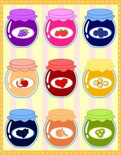 Jammie Jars by MidniteHearts on DeviantArt Cute Food Drawings, Cute Kawaii Drawings, Cartoon Cupcakes, Cute Food Art, Flower Phone Wallpaper, Print Calendar, Art N Craft, Cute Doodles, Bottle Art