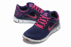 Nike Free Run 3 Women\'s Running Shoes Night Blue/Pure Platinum-Fireberry