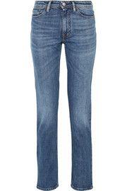 Acne Studios South Mid-rise Straight-leg Jeans In Mid Denim Denim Branding, Jennifer Fisher, Slim Legs, Jeans For Sale, Fashion Outlet, Stretch Denim, Acne Studios, Blue Denim, Colors