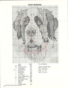 St Bernard cross stitch pattern