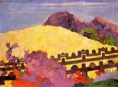 The sacred mountain 1892 Paul Gauguin