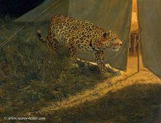 ONE DOG NIGHT    Not Just Wildlife Art of John & Suzie Seerey-Lester