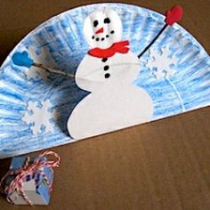 Paperplate Pop-Up Snowman