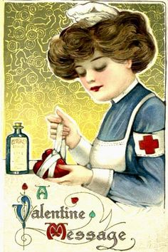vintage valentine nurse- how sweet, mending a broken heart