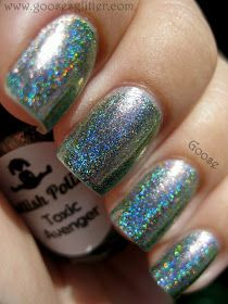 Goose's Glitter: Dollish Polish - Toxic Avenger: Swatches and Review