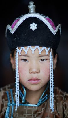 Portrait from the Gobi desert in Mongolia