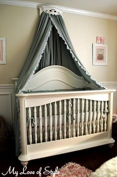 diy bed crown crib canopy tutorial, bedroom ideas, diy, home decor, how to… Bed Net Canopy, Diy Canopy, Canopy Crib, Canopy Curtains, Fabric Canopy, Bed Canopies, Ikea Canopy, Hotel Canopy, Window Canopy