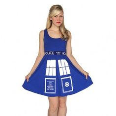 Doctor Who: TARDIS Dress Casual, classy, and absolutely brilliant: this TARDIS dress combines the distinctive style of the Eleventh Doctor's TARDIS with the flattering cut and comfort of an A-line dress. This dress is true to size but we recommend going up one size if you do not want it fitted.