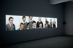 """Rineke Dijkstra """"I See a Woman Crying"""" video installation of children commenting on Picasso's weeping woman"""