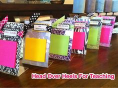 Head Over Heels For Teaching: Teacher Gifts-quick and easy.