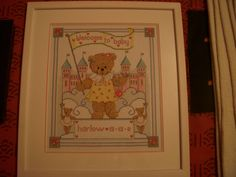 Princess Ted baby sampler for a work colleague.