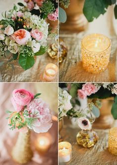 Rose and gold wedding ideas | Ceremony & Reception, Cocktail + Dinner Parties, Styled Shoots | 100 Layer Cake