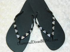 V Design Bling Sandals www.DiamondDivasBLING.com ♥ LIKE ♥ our page today! ♥ www.facebook.com/DiamondDivasBLING ♥ Bling Sandals, Rhinestone Sandals, 3 Shop, Flip Flops, Facebook, My Style, Shopping, Shoes, Design