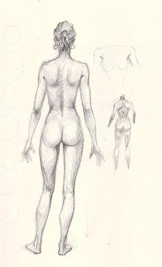 draw woman body back How to draw woman body basic