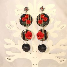 """Earrings """"Red and Black"""" picture no. 1"""