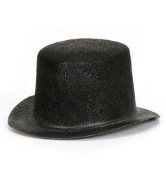 cbe891479f4 5 inch Black Felt Top Hat Black Top Hat