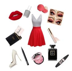 """""""Bella's party outfit"""" by savannahtaylor950 on Polyvore featuring Dsquared2, Yves Saint Laurent, Lime Crime, Beautycounter, Maybelline, NARS Cosmetics and Eos"""