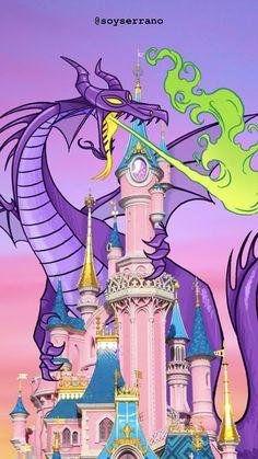 Fondo de pantalla del castillo de La Bella Durmiente ilustrado por Jorge Serrano / Disney Wallpaper Disney Movies, Princess Peach, Mario, Drawings, Pretty, Fictional Characters, Wallpapers, Disney Films, Sketches