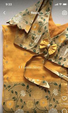Simple Blouse Pattern, Simple Blouse Designs, Stylish Blouse Design, Blouse Patterns, Cotton Saree Blouse Designs, Bridal Blouse Designs, Hand Work Blouse Design, Blouse Neck, Kurti