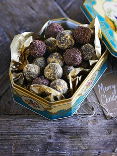 These chocolate and chestnut truffles from Dan Doherty are really easy to make and are a lovely edible gift to give over the festive season.