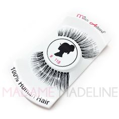Get a natural look with these 100% real human hair Miss Adoro #118. Miss Adoro Professional Eyelashes are sure to have the style just right for you. #MissAdoro #MissAdoroLashes #Fakelashes