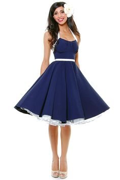 I love navy and white! The shape of this is so cute!