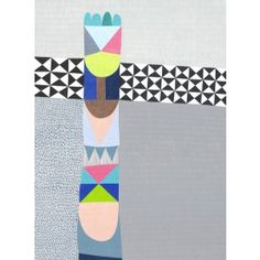 Totem Untitled Art Print by Lisa Lapointe - shop our art works online from our online art gallery. Illustrations Vintage, Childrens Wall Art, Art Prints Online, Affordable Wall Art, Scrapbook, Online Art Gallery, Graphic Illustration, Design Art, Quilt Design