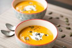 Pumpkin and chestnuts soup